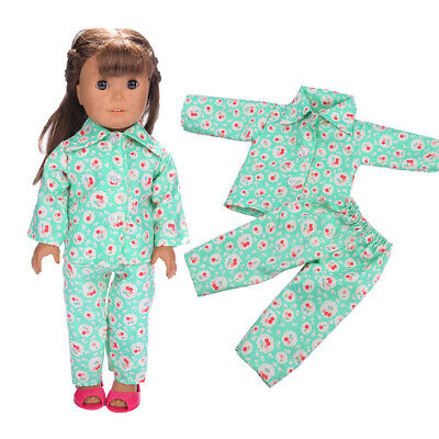"""Hot Handmade Accessories Fits 18"""" Inch American Girl Doll Clothes Pajama set"""