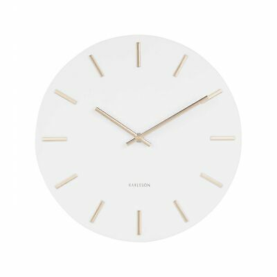 Karlsson Charm Metal Wall Clock With Gold Markers 30Cm - White