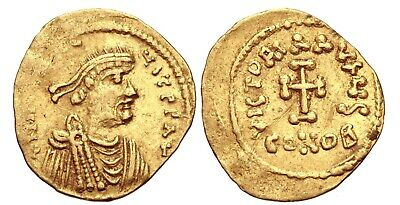 RARE ANCIENT BYZANTINE GOLD COIN : Constans II. 641-668 - AV Tremissis