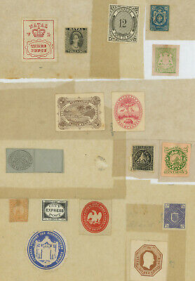 Worldwide lot of classic stamps, proofs, essays, locals, etc. from ANCIENT COLL.