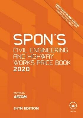 Spon's Civil Engineering and Highway Works Price Book 2020 - 34th[PDF DISPATCH]