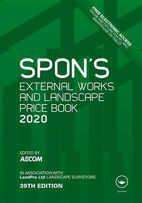 Spon's External Works and Landscape Price Book 2020 [PDF DISPATCH] 39th Ed