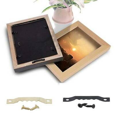 100pcs Gold Single Layer Hanging Picture Mirror Frame Saw Tooth Hooks Hangers LH