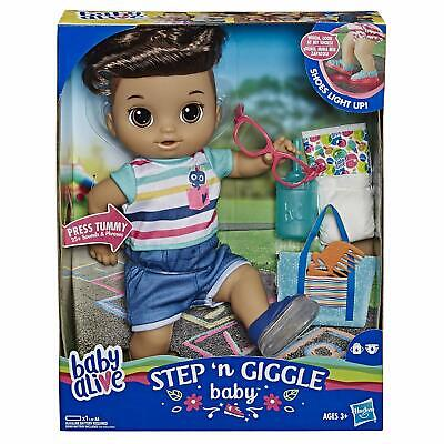 🚛Fast Shipping! {NEW} Baby Alive Step Giggle Baby Boy Brown Hair Bilingual