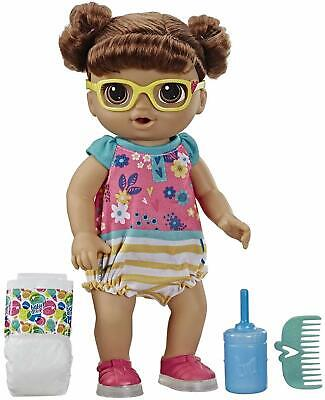 🚛Fast Shipping! {NEW} Baby Alive Step Giggle Baby Girl Brown Hair Bilingual
