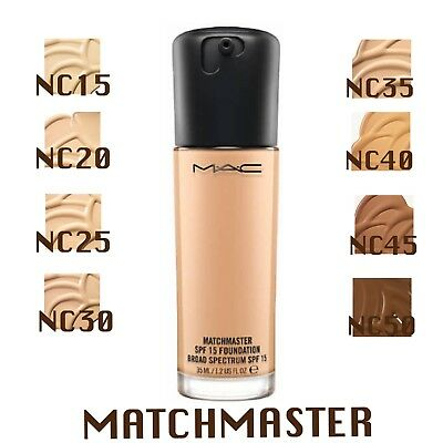 MAC Matchmaster SPF 15 Foundation (VARIOUS SHADES) 35ml. Full Size. Brand NEW