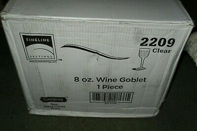 Flairware 8 Ounce Clear Swirl Pattern One Piece Plastic Wine Goblets 96 Pieces