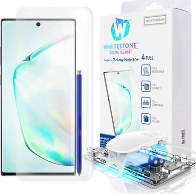 WHITESTONE DOME Tempered Glass Fullcover CURVED Samsung Galaxy NOTE 10+ plus
