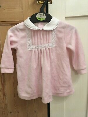 Tutto Piccolo (Spanish Brand) Pink Dress with Peter Pan Collar, 6 Months