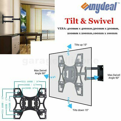 Tilt Swivel TV Wall Mount Bracket LCD LED Plasma Flat Slim 32-70'' VESA 100 100