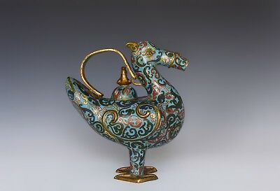 An Antique Chinese Gilt Decorated Cloissonne Censer