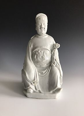 An Antique Chinese Porcelain Dehua Blanc De Chine Figure of Wu Guandi
