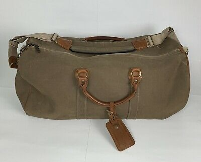 Cool Vintage Ll Bean Leather Handles Waxed Canvas Duffle Bag Unemploymentrelief Wooden Chair Designs For Living Room Unemploymentrelieforg