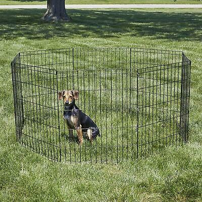 Dog  Fence Playpen Crate Pet Cage Exercise Tall Dog Folding Play Pen Metal
