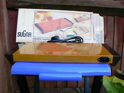 Vintage Sugna Electric Ceramic Hot Tray Food Warmer type 9 400W UK