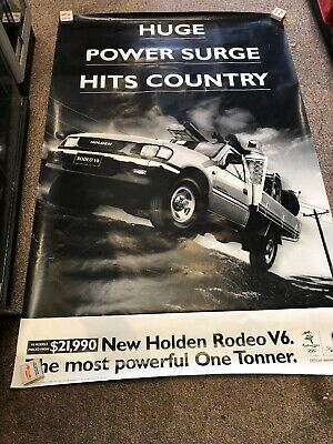 Holden Rodeo V6 Original Large Showroom Poster 2000