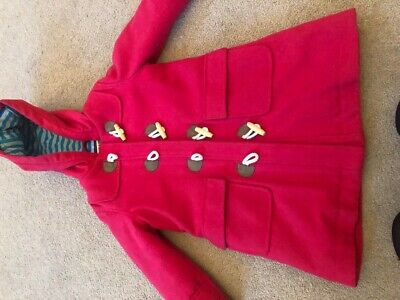 mini boden red duffle coat age 3-4 girls or boys