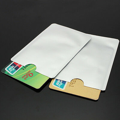 10x Credit Card Protector Secure Sleeves RFID Blocking ID Holders Foil Shield