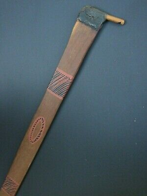 Old Australian Aboriginal Spear Thrower  Hand Painted Wood Weapon