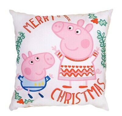 Peppa Pig - Merry Christmas/ How Many Sleeps Cushion! **New & Sealed!* **L@@K!**