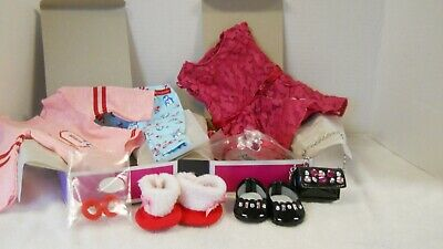 American Girl Holiday Penguin PJs AND Merry Magenta Outfit NEW IN BOXES