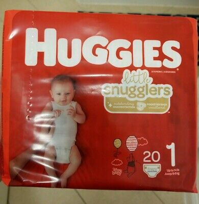 Huggies Little Snugglers Baby Diapers, Size 1 (up to 14 lb.), 20 Count