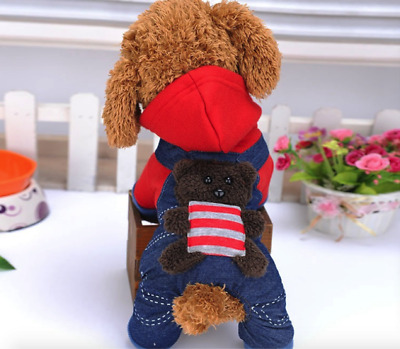 Cute Pets Dog Teddy Sweater Coat Winter Warm Pets Cloth Christmas Holiday