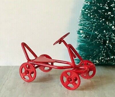 Dollhouse Miniature//Fairy Garden Rustic Vintage Look Toy Metal Scooter #D6552-82