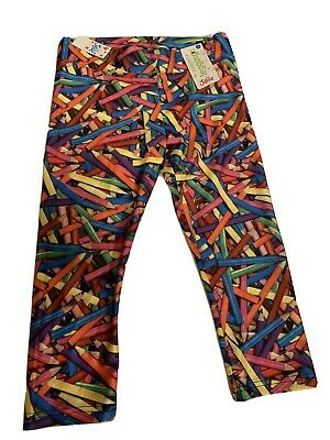 Justice Cropped Leggings 12 Size Girls Pencils School NEW NWT