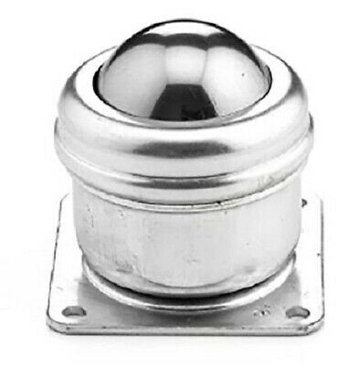 Alwayse STAINLESS STEEL BALL TRANSFER UNIT 40mm 140kg Max Load, 4-Hole Flange