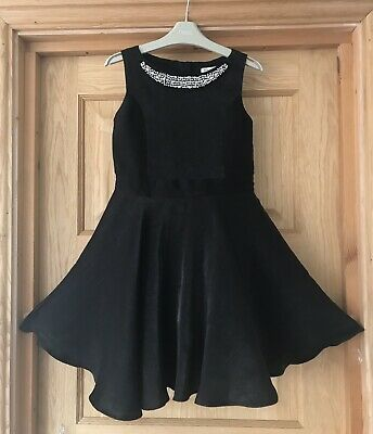 RIVER ISLAND *9y GIRLS Beautiful Black Party DRESS OUTFIT AGE 9 YEARS