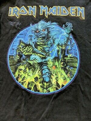 IRON MAIDEN Somewhere Back In Time 2008 World Tour L/SL T Tee Shirt SZ/S