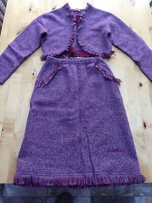 Girls LELLI KELLY Skirt and Cardigan Suit Size 8 Years