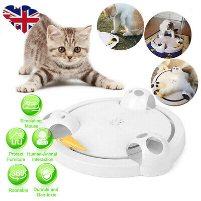 Pet Cat Electric Toys Automatic 360° Funny Exercise Mice Catch Teaser Kitten Toy
