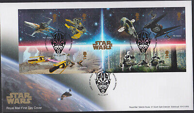 2019 FDC - Star Wars Mini Sheet-First Day Issue  Pictorial  Maulden,Bedford