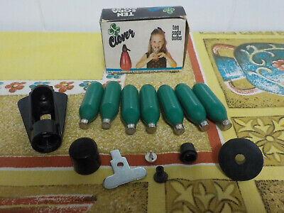 Vintage CLOVER Soda Bulbs x 7 in box plus accessories and instructions