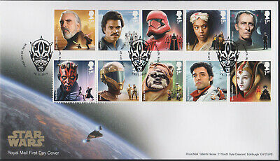 2019 FDC - Star Wars Set -First Day Issue Pictorial Postmark Maulden- Bedford