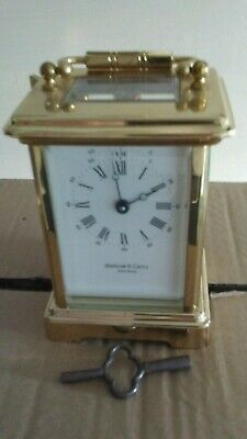 french carrige clock, with key