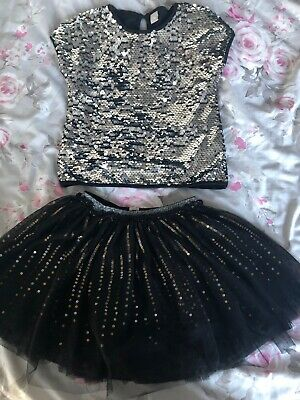 Girls Party Outfit Aged 7. Tuille Skirt And Top