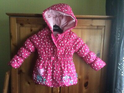 Girls Peppa Pig Quilted Coat Age 2-3 Years