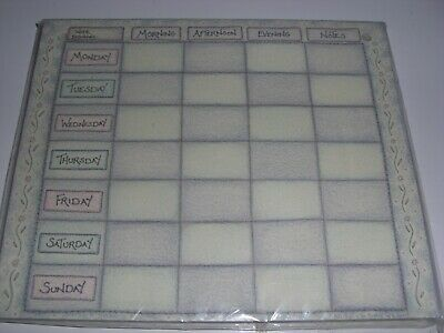 Brand New 'East Of India' paper weekly planner. Memo kitchen gift~Christmas.