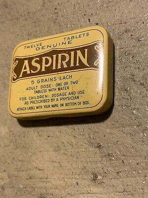 vintage aspirin advertising tins