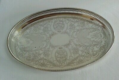 Oval Sheffield Silver Plated tray