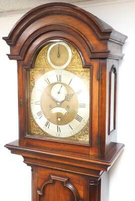 Antique Grandfather Clock 5 Pillar Strike / Silent 8 Day Longcase Clock Ampthill