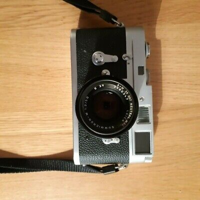 Leica M2 with Leica 50mm F/2.0 Summicron Lens V5 w/ Built in Hood