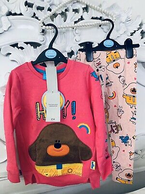 Cute 2 Piece Hey Duggee  Girls Leggings And Sweatshirt Set 3-4 Years