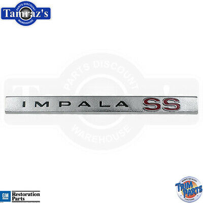 """OEM 10402626 Trunk Lid Mounted Red /""""SS/"""" Logo Nameplate Emblem for Impala Monte"""