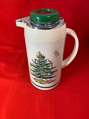 Spode Christmas Tree Thermal Carafe Thermos Pot Serve Coffee Tea Hot Water
