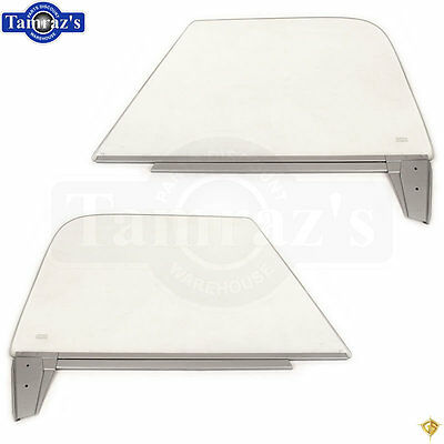 67-72 Chevy Pick Up Pickup Truck DOOR Window Glass w// Track Guide CLEAR PAIR