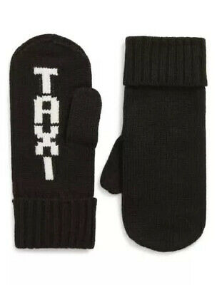 NWT Kate Spade Taxi Black Knit Mittens.